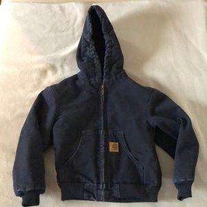 Carhartt Navy lined Coat Size 6/7